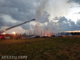 Barn Fire in Cobb Island